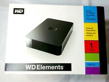 WD Elements 1 TB External Backup/Storage drive PC/MAC. SHIPS TODAY