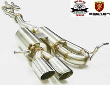 BECKER CatBack Exhaust System Fits 2008-2012 BMW135i Turbo 3.0L I6 N54B30/N55B30