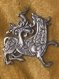 Vintage sterling silver scottish brooch 10.8g