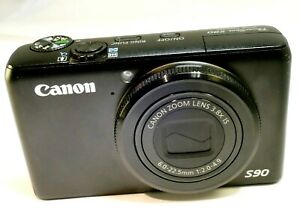 Canon S90 powershot Digital Camera 10MP - Black - untested AS IS