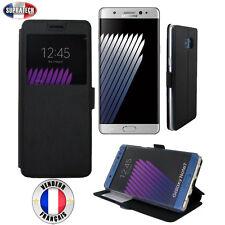 Etui Rabattable Noir Avec Ouverture Ecran pour Samsung Galaxy Note 7 N930