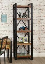 Urban Chic reclaimed wood indian furniture alcove living room office bookcase