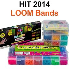 LOOM Bands Mega XL Starter Set Armband Webrahmen Jumbo Box Gummibänder 3 Modelle