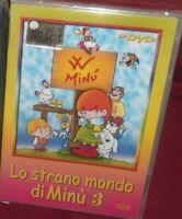 1 DVD CARTONI ANIME TV ANNI 80 LO STRANO MONDO DI MINù 3 LA SIGNORA MINU,12 EPIS