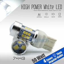 2X 7443/7440 1000 Lumens 50W White Backup Reverse High power LED Light Bulbs