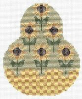 Needlepoint Handpainted KELLY Clark Sunflower PEAR
