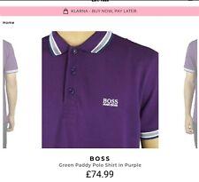 Hugo Boss Small Paddy Polo Mens Shirt Purple, BNWT RRP £75 - £95