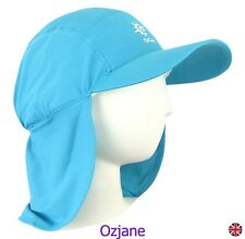 BABY GIRLS UV 50 +OZCOZ SWIM HAT SUN PROTECTION LEGIONNAIRE AQUA 1 TO 2 YRS