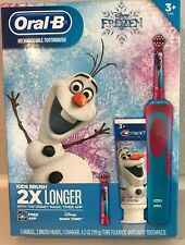 Oral-B Disney Frozen Rechargeable Toothbrush with 2 Replace Heads and Toothpaste