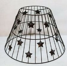 """Metal star hollowed lamp shade with harp style 15"""" diameter and 10.5"""" high"""