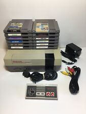 Nintendo NES Console System Bundle NEW 72 PIN Super Mario 12 Games Lot WORKING!