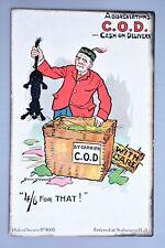 R&L Postcard: Philco Comic 4003 Abbreviations COD Cash On Delivery, Black Cat