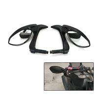 """Black 7/8"""" 22mm Motorcycle CNC Handle Bar End Rear View Mirrors Yamaha Kawasaki"""