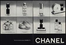 1974 CHANEL No 5 Perfume - Cologne - Body Lotion - Bath Powder - 2 pg VINTAGE AD