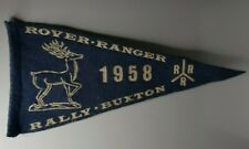 More details for boy scouts rover ranger rally 1958 buxton camping pennant 11.5