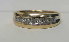 10K Yellow Gold .50 CTW Diamond Band Ring Size 10.5 R8089