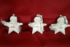 NOS Monogram Porcelain STAR SNOW BABY Christmas Ornmt w/tags Variety Selection