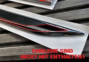 Plakette Line Schwarz Seitenemblem Sticker Schwarz Rot Schriftzug Autoaufkleber
