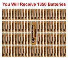 1350-Pack GP Size AAA Batteries Alkaline 1.5V LR03 BULK Wholesale Lot 2021