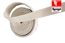 100% Natural Cotton Canvas Tape Strap Belt Thick Strong Heavy Duty