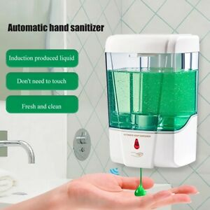 700ml Automatic Soap Dispenser IR Sensor Dispenser Touchless Hand Free Wall