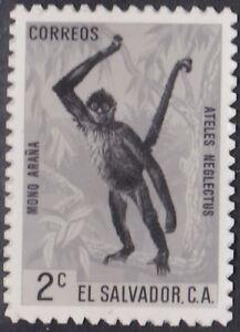 El Salvador Sc739 Wildlife, Spider Monkey, Animal, Photo Proof, MH