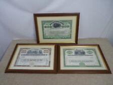 3 Framed US Bearer Bonds Share Certificates - Grand Union Butte Railroad Company