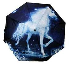 "White Unicorn Fantasy Mystical Art Compact Travel 36"" Across Umbrella NWT"