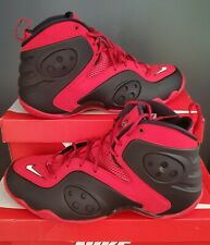 "NEW AUTHENTIC NIKE ZOOM ROOKIE ""UNIVERSITY RED/BLACK/ WHITE""  US 13"