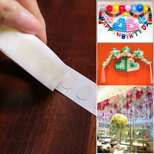 100 Dots Removable Adhesive Glue Dot Foil Balloon Wedding Birthday Decor Sticker