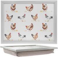 Chicken Lap Tray  - TV Dinner Breakfast Bean Bag Cushioned  Farm Village Country