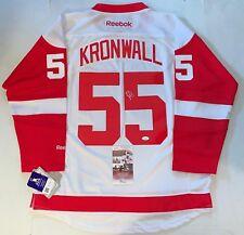 599a98a8d Niklas Kronwall signed Detroit Red Wings Reebok Premier jersey autographed  JSA