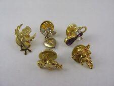 Lot of Five (5) Vintage Nice Angel Pins