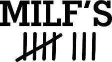 MILF Tally Vinile Decalcomania Sticker VW VDub RAT Retro Rover MG PEUGEOT Vauxhall