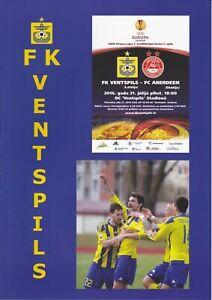 Europa League FK Ventspils v Aberdeen 21 Jul 2016