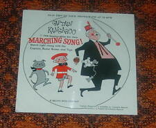 CAPTAIN KANGAROO  MARCHING SONG  CARDBOARD RECORD 1956  78 RPM