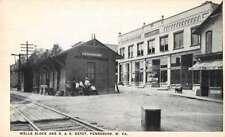 Pennsboro West Virginia Wells Block and Depot Vintage Postcard AA9564