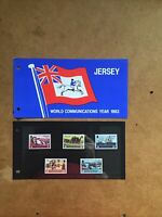Jersey 1983 World Communications Year 1983 stamps presentation pack