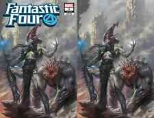 FANTASTIC FOUR 1 LUCIO PARRILLO COMICXPOSURE VIRGIN VILLAIN VARIANT 2 PACK NM