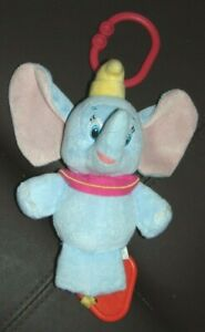 """Disney Dumbo plush - attach to carseat - musical 6"""""""