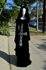 GOTH wedding dress witch costume glam witch COUTURE witch bride HALLOWEEN Sz 6