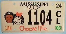 Targa USA License Plate Mississippi Choose Life Usata Originale no edicola