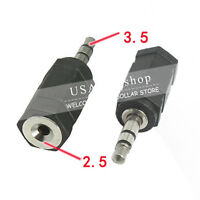 2X New 3.5mm Stereo Plug Male to 2.5mm Stereo Jack Female Adapter B