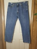 Vintage Levi's 505 Orange Tab Jeans Denim Made In USA Blue Men's Meausre 38x30