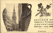 Boston MA Knights of Pythias Convention 1908 Bean Pot Border Postcard #3