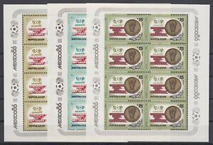 UdSSR USSR Sowjetunion 5612-5614 Kleinbogen sheetlets MNH ** Fussball Soccer