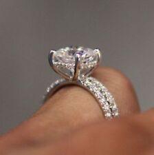 Wedding Ring Set 14k White Gold 2.1 Ct Cz White Cushion Cut Engagement