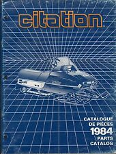 1984 SKI-DOO CITATION SNOWMOBILE  PARTS MANUAL P/N 480 1179 00 (442)