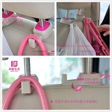 2 x Portable Car SUV Seat Headrest Pink Hanger Holder For Bag Coat For Chevrolet