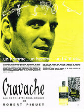 PUBLICITE ADVERTISING 044  1963  CRAVACHE  parfum ROBERT PIGUET